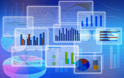 Chart diagrams and Business with financial symbols