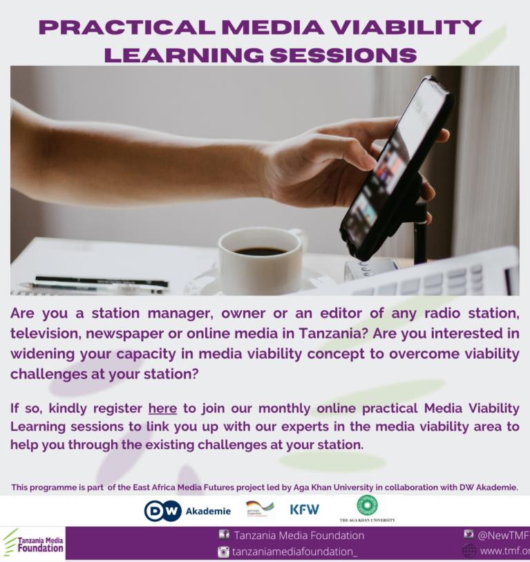Register for Online Media Viability Practical Learning Sessions