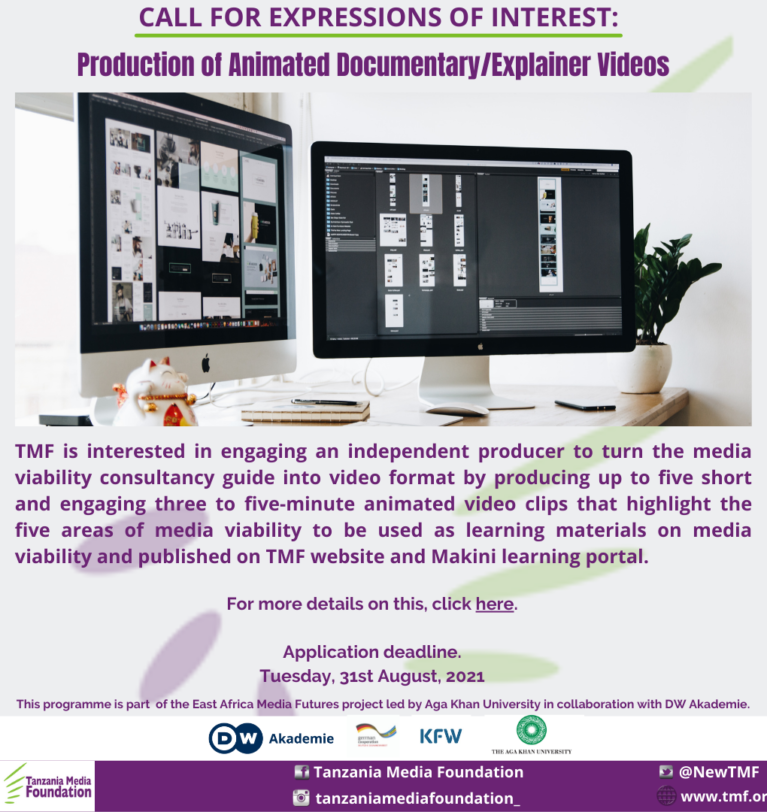 CALL FOR EXPRESSIONS OF INTEREST: Production of Animated Documentary/Explainer Videos